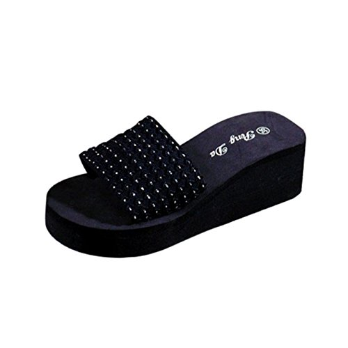 LHWY Damen Schuhe Sandalen Slipper Indoor & Outdoor Braun