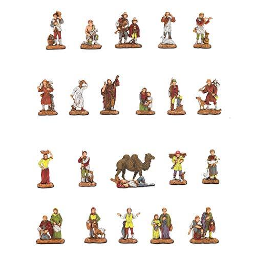 Moranduzzo 21 pastori e 1 cammello in scatola, multicolore, 3.5 cm