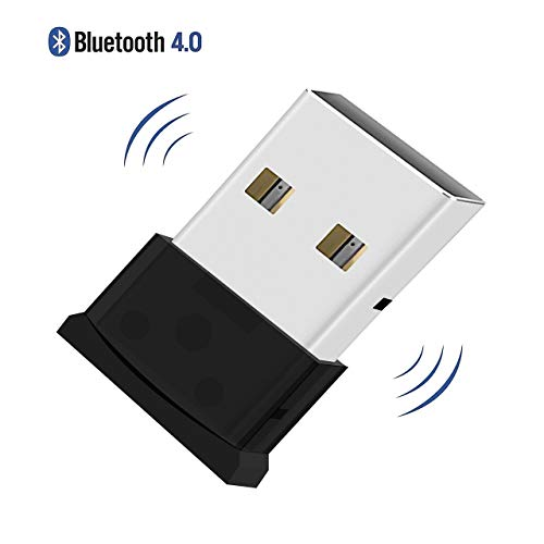QueenDer Adattatore Bluetooth USB Nano Dongle Bluetooth 4.0 Wireless | Low Energy | Plug And Play per PC con Windows 10 8 7 XP, Compatibile con Cuffie, Altoparlanti, Mouse Bluetooth, Tastiera, PS4