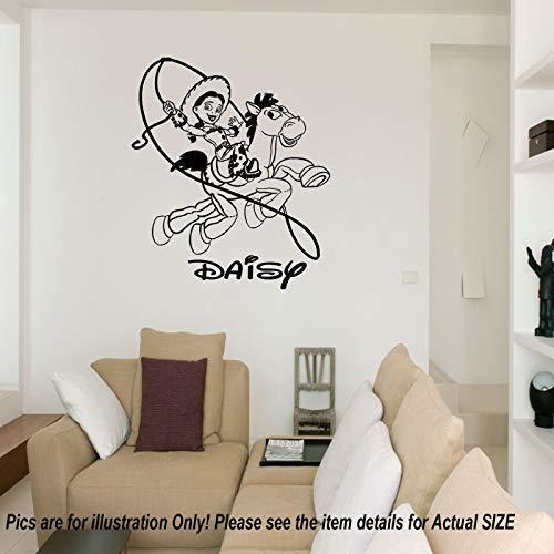 Disney Toy Story Jessie Bullseye personalisierte Namen entfernbare Wandaufkleber Kunst Aufkleber Vinyl Sterne