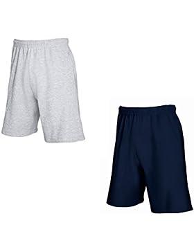 2er-Pack Fruit of The Loom Herren Kurze Sporthosen Jogginghosen Lightweight Shorts