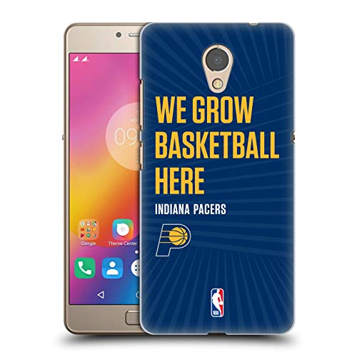 Head Case Designs Offizielle NBA Pacers We Grow Basketball Here 2018/19 Team Slogan 2 Harte Rueckseiten Huelle kompatibel mit Lenovo P2 / Vibe P2