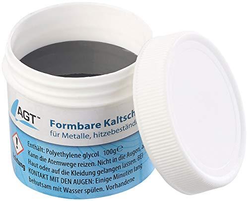 AGT Flüssigmetall: Kaltschweißmasse für Metalle, hitzebeständig bis 1.100 °C, 100 g (Kaltschweißpasten für Metalle)