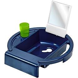 Rotho Babydesign Kiddy Wash Lavabo à Suspendre sur la Baignoire Blue Pearl/Blanc/Translucent Lime
