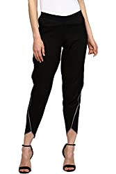 SASSAFRAS Womens Black Dhoti Pants