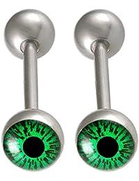 Paire barbell piercing pour la langue tetons bijouterie Acier 14G 1,6mm 16mm FFWK