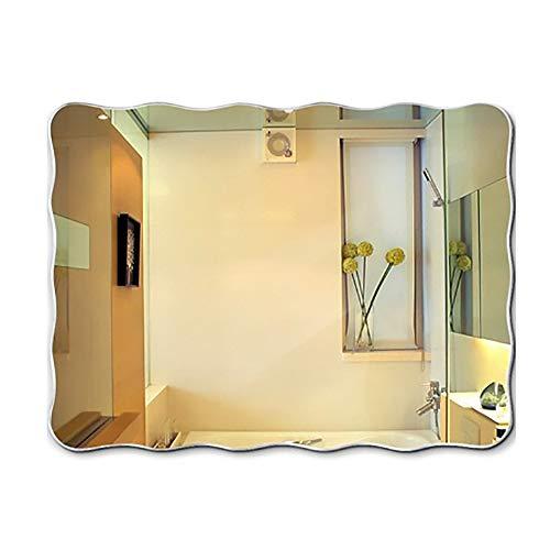 ZM& Badspiegel Kreativität Ohne Grenzen Unregelmäßig Großen High-Definition-Spiegel Minimalistisch Modernes Haus Dekorativen Wand-Multifunktions-Spiegel Geformt (Size : 100x75cm)
