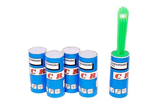 Fusselroller + 4 Ersatzrollen (5er-Pack) Kleiderroller Fussel Roller Dauerfusselroller Fusselrolle für Tierhaare G58