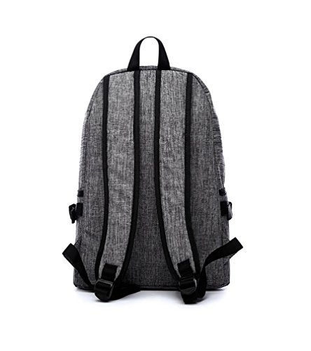 F@Koreanische Version des Rucksacks, Freizeitrucksack, Segeltuchschulterbeutel, Reisetasche Sport, Junior High School Schüler Schulranzen deep blue
