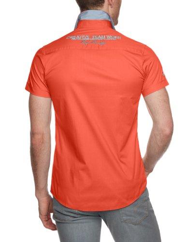 Redbridge Chemise de travail  Slim Fit Col chemise Manches courtes Homme Orange (Coral)
