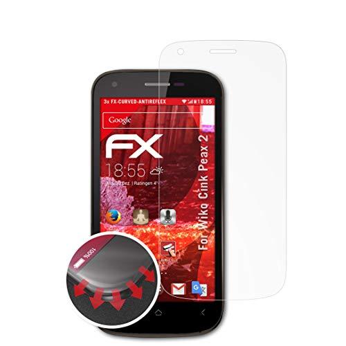 atFolix Schutzfolie passend für Wiko Cink Peax 2 Folie, entspiegelnde & Flexible FX Bildschirmschutzfolie (3X)