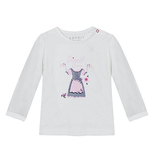 Esprit Kids Baby-Mädchen T-Shirt, Weiß (Weiß 110), 80
