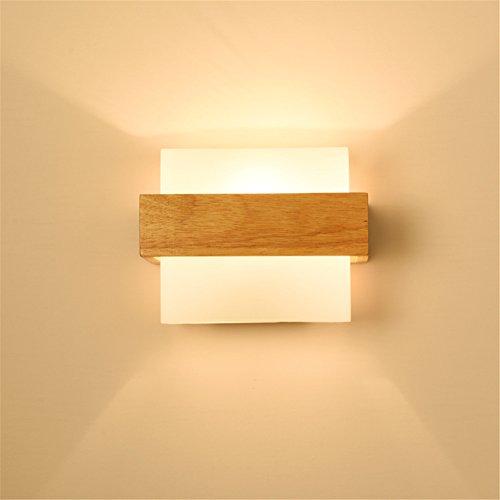 Wandleuchte Hardware (Wmshpeds Moderne, Bedside LED Wandleuchte, einfache Kreativität, Massivholz Holz, Schlafzimmer Wohnzimmer, gang Flur, hotel Hotel Wandleuchte)