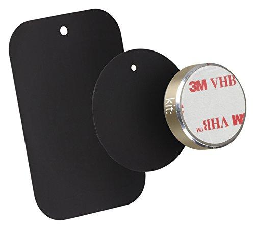 Kit Universal KFZ Smartphone Halterung Handyhalterung Magnetisch für Armaturenbrett Kompatibel mit Android und Apple Geräten - Gold