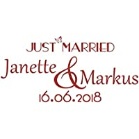 Wandtattoo Hochzeit - Just Married & Namen & Datum