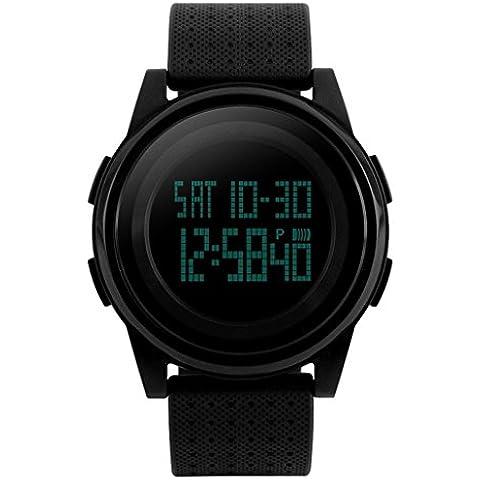 downj da uomo digitale elettronico impermeabile orologio