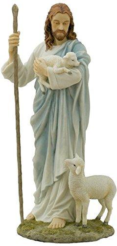 PALAZZO INT Skulptur Jesus von Nazaret, Christus mit Lamm, Keramikmasse mit Handbemalung Figur, Veronese WU75046AB