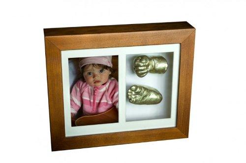 Taufgeschenke Direkt Kit moulage en plâtre 'Memories Factory' - Empreinte 3D de votre enfant dans un cadre