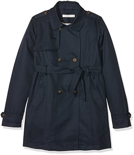 NAME IT Mädchen Mantel Nkfmaiken Trench Coat, Blau (Sky Captain Sky Captain), 128