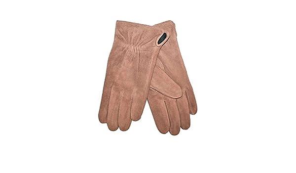fa3c595b9354 Daim paire de gants en cuir pour femme avec doublure en polaire-marron- taille 7,5  Amazon.fr  Vêtements et accessoires