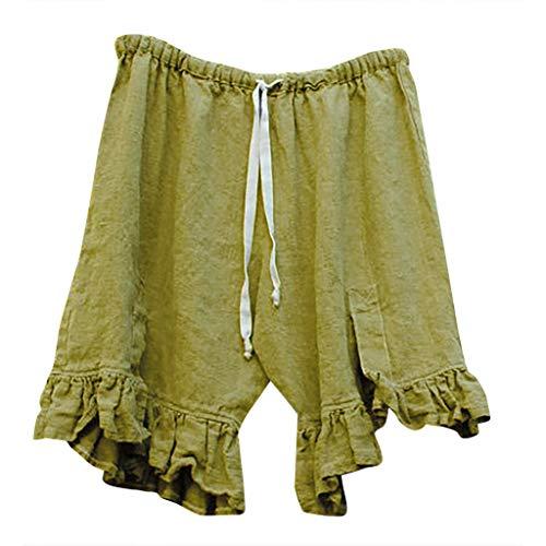 Shorts Damen Hosen Sommer Elegant Frauen Mode Kurze Hose Capri Hosen Beiläufige Chino Hosen Knielange Shorts Slim fit - Kleine Capri-sandalen