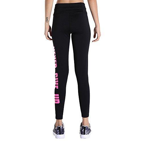 MOTORUN Pantalon Sport Femme Leggings Yoga Noir Pour Fitness Rose(Classique)
