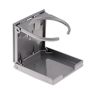 Sharplace Getränkehalter Klappbar Dosenhalter Flaschenhalter Becherhalter für Kickertisch, Grau / Schwarz - Grau