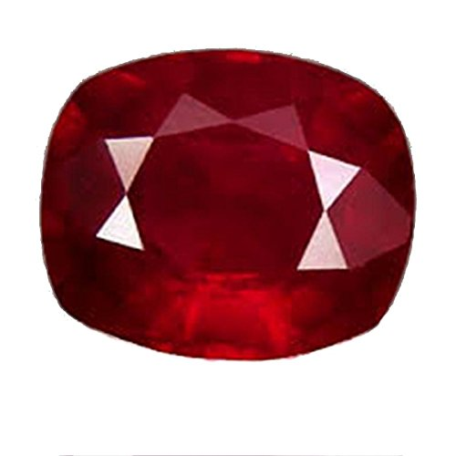 Ruby (Manik/Manak) Cushion 8.25 Ratti Certified Natural Rashi Ratan Gemstone For Astrological Purpose By Akshay Gems