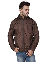 Derbenny High Quality Premium Brown Nylon Reversible Jacket For Men