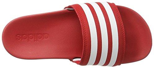 adidas Herren Adilette Cloudfoam Ultra Badeschuhe Rot (Scarlet/Footwear White/Scarlet)