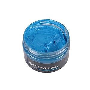 120g Color de cera para el cabello Styling Pomade Tinte para cabello desechable para colorear Mud Peinado Peinado Crema (Azul)