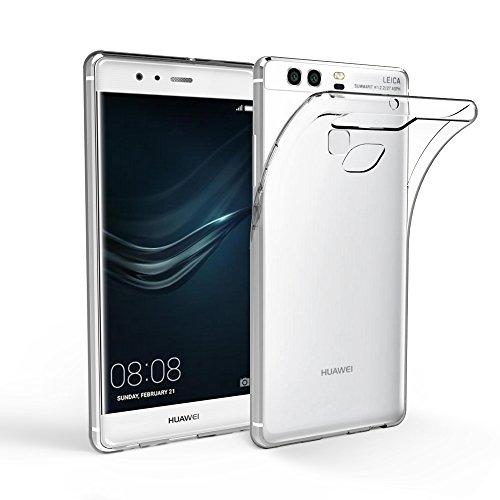 EasyAcc Huawei P9 Custodia, Huawei P9 Morbido TPU Custodia Cover Cristallo limpido Trasparente Slim Anti Scivolo Custodia Protezione Posteriore Cover Antiurto per Huawei P9