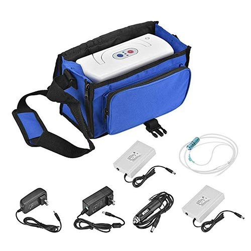 JJZXPJ Sauerstoffkonzentrator Generator,Mobiles SauerstoffgeräT Justierbares Portable Mit Schlauchluftstrom-Batterie-Sauerstoff-Stab-Maschinen-Luftreiniger for Ausgangs- Und Reisegebrauch