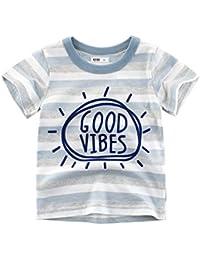 27 KIDS Camiseta Infantil De Algodón De Dibujos Animados para Niños Y Niñas Camisacorta De Manga