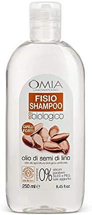 Omia Fisio Shampoo Eco Bio con Olio di Semi di Lino per Capelli Secchi e Crespi, Adatto ad un Uso Frequente, 2
