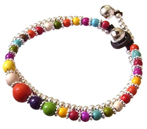 artisanat-asiatique-bracelet-fait-main-double-chaine-de-cire-perles-en-rhodium-cloche-couleur-mix-th