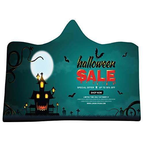 Der Kostüm Schocker - Dasongff Halloween Umhang Die Decke Huggle Kapuzenpullover mit Kapuz Pullover, Decke, Vampir Kostüm Halloween Erwachsener Unisex 150x200cm