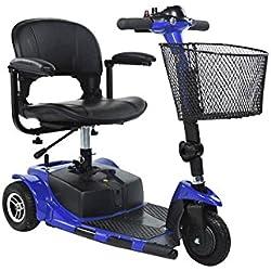 Dixi 8Inch Tres Ruedas Desmontable Plegable Movilidad Scooter con luz LED de la certificación CE para discapacitados