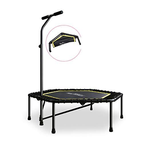 Trampolini elastici per interni trampolino elastico fitness trampolino pieghevole trampolino salto allenamento elastico indoor trampolino da 48 pollici (color : black, size : foldable)