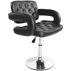 Fauteuil de barbier professionnel coiffure coupe cheveux rasage style classique mode hydraulique levage hauteur réglable en cuir PU