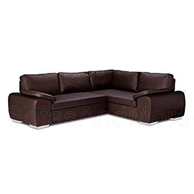 Brand New - Enzo - Corner Sofa Bed With Storage - Faux Leather - Right Hand Side Orientation by ROBERTO