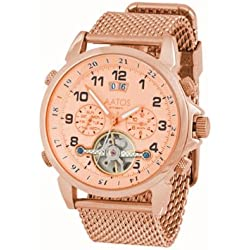 Aatos TiosRgRgRg Men's Automatic Rose Gold Plated Stainless Steel Wrist Watch