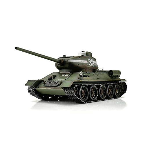 TORRO 3909-B - T34/85 RC Panzer 2.4 GHz 1/16 Profi-Metall BB, grün (Bb-tank Rc)