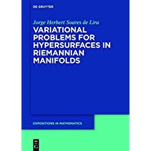 Variational Problems for Hypersurfaces in Riemannian Manifolds (De Gruyter Expositions in Mathematics)