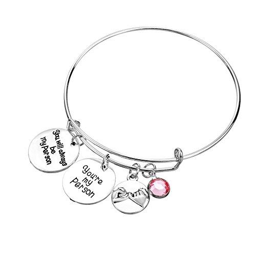 MAINBEAD braccialetto cristallo Pull 2pcs sei mia persona migliore amico regalo braccialetto regolabile