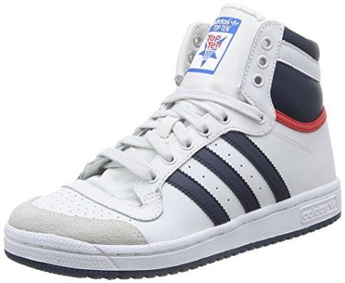 Adidas D74481, Basket-ball Garçon, Blanco / Rojo, 37 EU