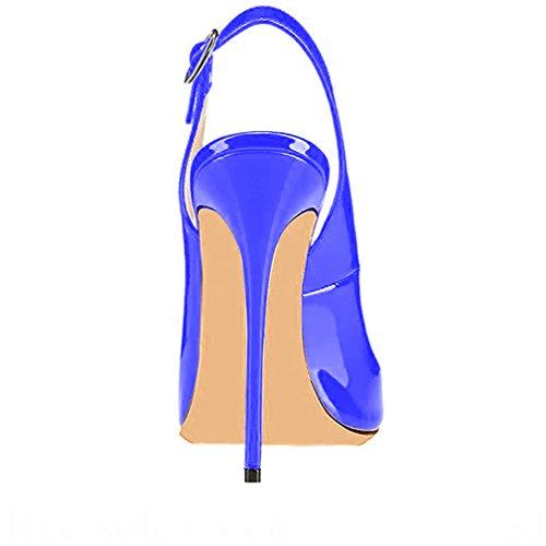 Trusify Donna 12cm EU 34-46 Trucost tacco a spillo 12CM Synthetic Sandali Blu