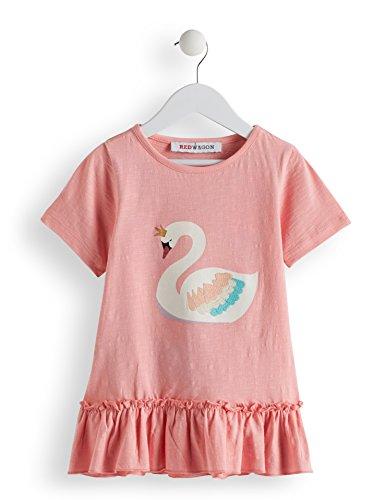 RED WAGON Mädchen T-Shirt mit Schwan-Motiv Pink (PINK PINK), 110 (Herstellergröße: 5)
