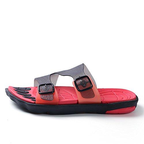 Chaussons pour hommes, faites glisser un mot, salle de bains baignoire, chaussons anti-dérapants, les chaussures de plage Khaki