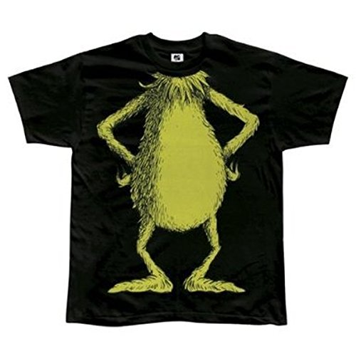 (No Head Grinch Body Kostüm schwarz Erwachsene T-Shirt X-Large)